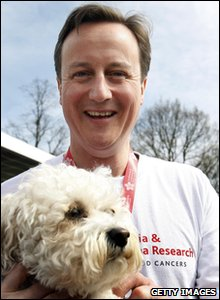 David Cameron with dog