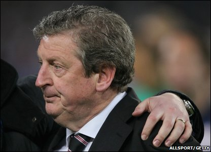 "Their manager Roy Hodgson said he felt, ""bitter disappointment and great sadness."""