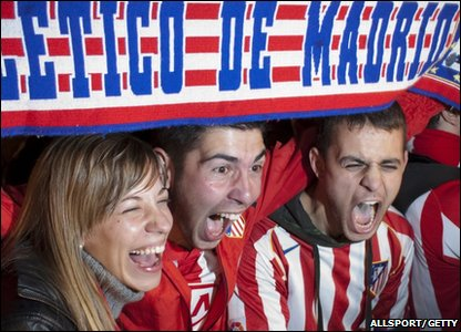 These Atletico fans look pretty happy with the result.