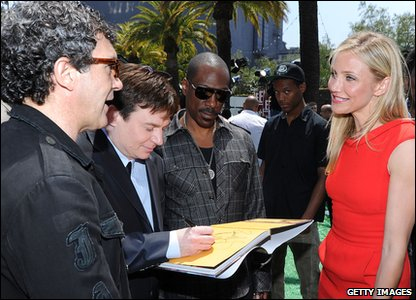 Antonio Banderas, Mike Myers, Eddie Murphy and Cameron Diaz