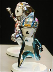 Wenlock and Mandeville, the mascots for the London 2012 Olympic and Paralympic Games.