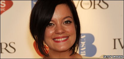 Lily Allen at the Ivor Novello Awards