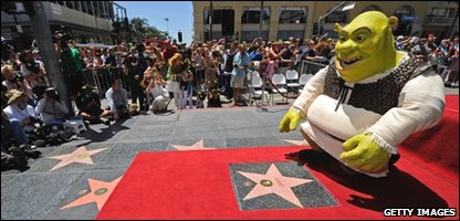Shrek on the Walk of Fame