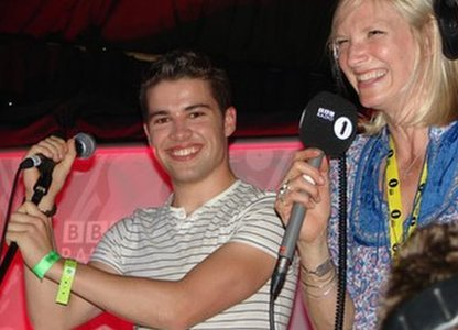 Jo Whiley and Joe McElderry