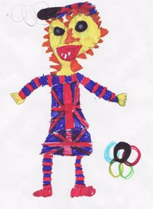 Mascot designed by Daisy aged 8