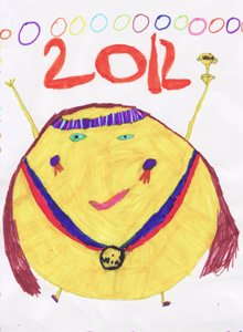 Mascot designed by Kharli aged 8