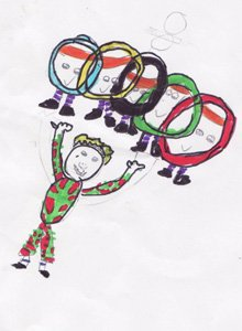 Mascot designed by David aged 8