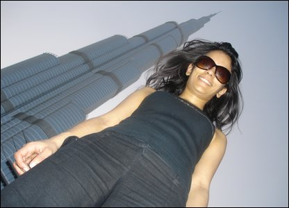 Sonali and the Burj Khalifa