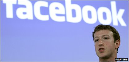 Facebook's creator Mark Zuckerberg at a talk about privacy settings