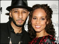 Alicia Keys and her fiance Swizz Beatz
