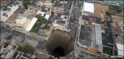 Sink hole in Guatemala