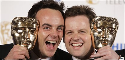 Ant and Dec with their Bafta TV awards