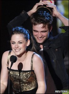 Emma WatsRobert Pattinson and Kristen Stewart