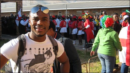 Ore visits a Rustenburg school