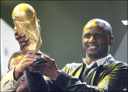 Patrick Vieira with World Cup trophy