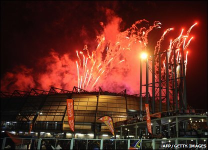 Fireworks at Orlando Stadium