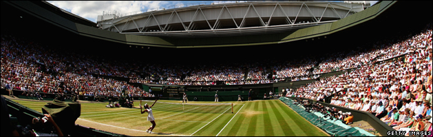 Wimbledon centre court during the Womens Final July 2009