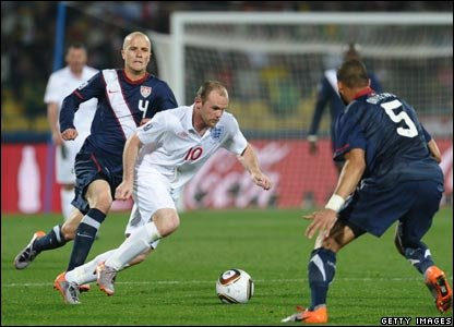 England's Wayne Rooney tries his best throughout the game - but a few attempts to score lead to nothing.