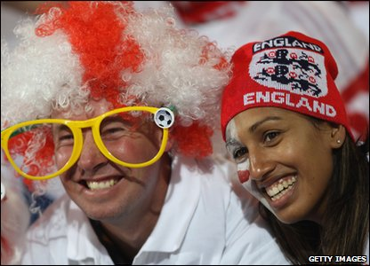 Millions of England fans are watching the game all over the world - loads of them dress up for the occasion!
