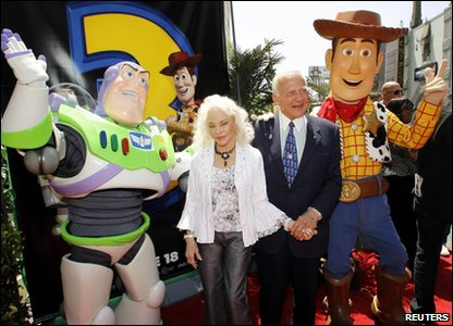 Buzz Aldrin and the Toy Story characters