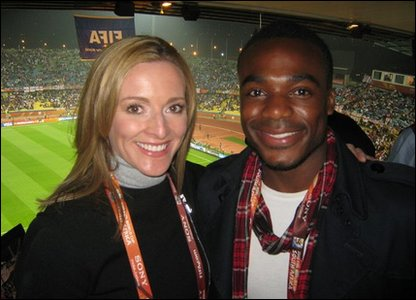 Ore and Gabby Logan