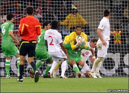 As reports suggested - Robert Green was replaced in goal by David James after Green's blunder during the USA game.