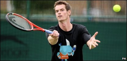 Andy Murray in training