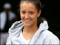 Laura Robson in training