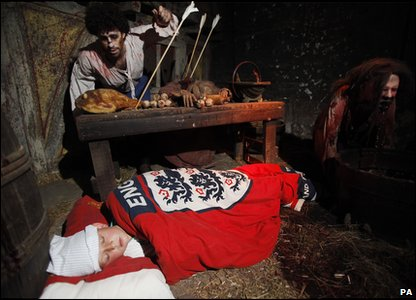 Kid taking part in the Giant Sleepover in the London Dungeon