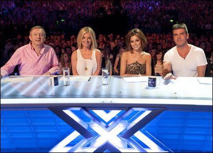 The X Factor judging panel in Glasgow
