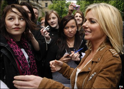 Geri Halliwell in Glasgow