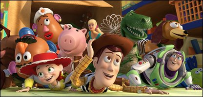 Woody, Buzz and the stars of Toy Story 3