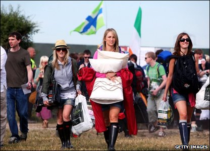Girls at Glastonbury
