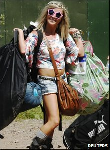 Girl at Glastonbury