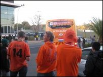 The Netherlands team bus