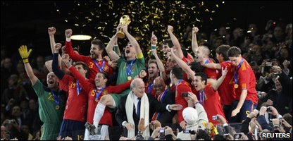 Spain win the World Cup