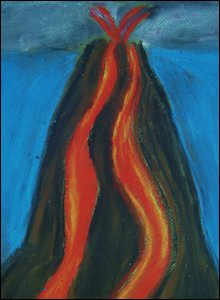 'The Volcano' by Jake, 10, Tewkesbury (winner in 7-11 age group)