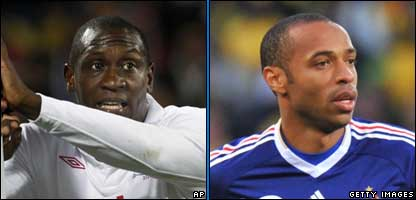 Emile Heskey (left) and Thierry Henry