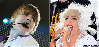 Justin Bieber and Lady GaGa