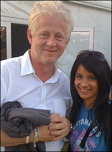 Sonali with Richard Curtis