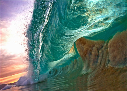 A wave in Hawaii