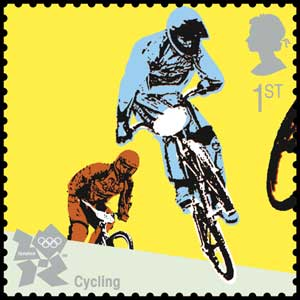 Cycling stamp (Photo: Royal Mail/PA)