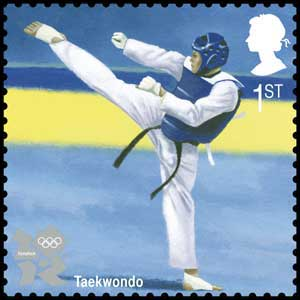 Taekwondo stamp (Photo: Royal Mail/PA)