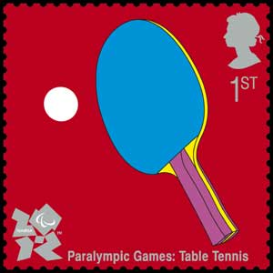 Table tennis stamp (Photo: Royal Mail/PA)