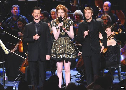 Matt Smith, Karen Gillan and Arthur Darvill at the Doctor Who Prom