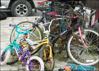 Bikes found by Neptune's Army of Rubbish Cleaners
