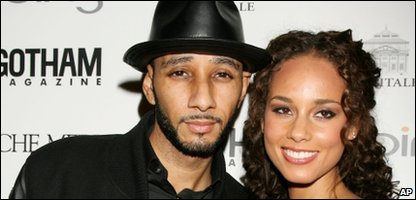 Alicia Keys with now husband Swizz Beatz