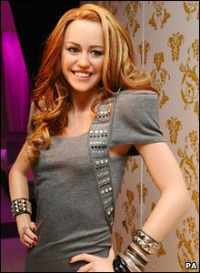 Miley Cyrus's waxwork at Madame Tussauds London