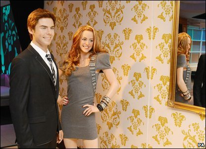 Zac Efron and Miley Cyrus's waxworks at Madame Tussauds London
