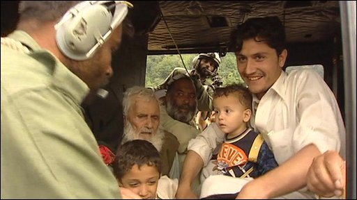 Family rescued from Pakistan floods